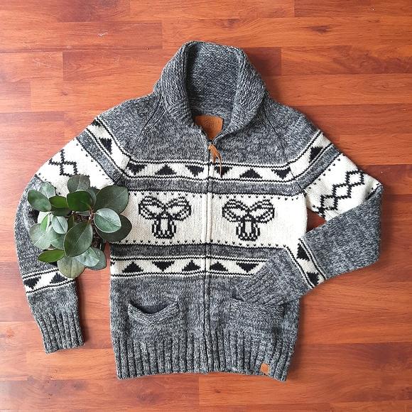 ARITZIA TNA sea to sky 100% lambswool zip sweater